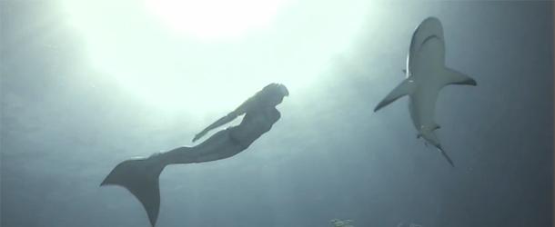 Подводные видеосъемки с русалками