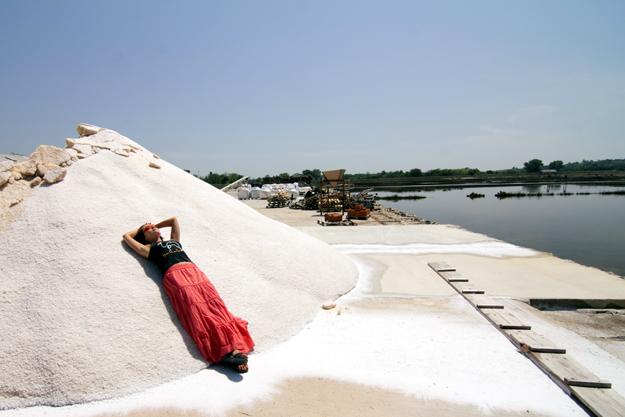 Солеварня в Нин. В Нинской лагуне выпаривают морскую соль с античных времен